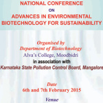 National Conference on Advances in Environmental Biotechnology For Sustainability